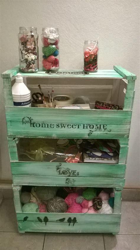 cajones de frutas muebles reciclados pinterest decoupage pallets  manualidades