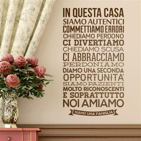 Sticker Auf Italienisch by Wall Stickers In Questa Casa Siamo Autentici