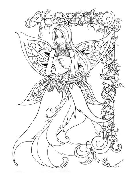 elf fairy coloring pages coloring wings and girls on pinterest