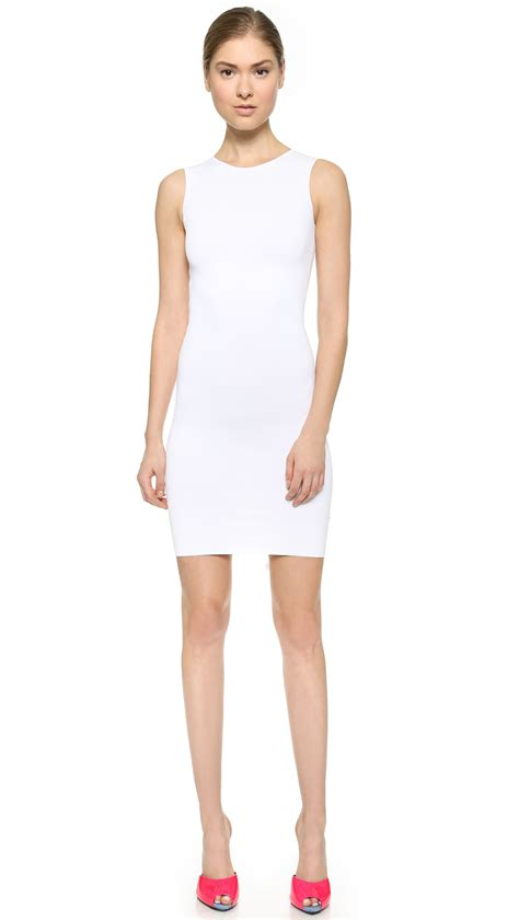 sleeveless knit dress dsquared 178 sleeveless knit dress white in white lyst