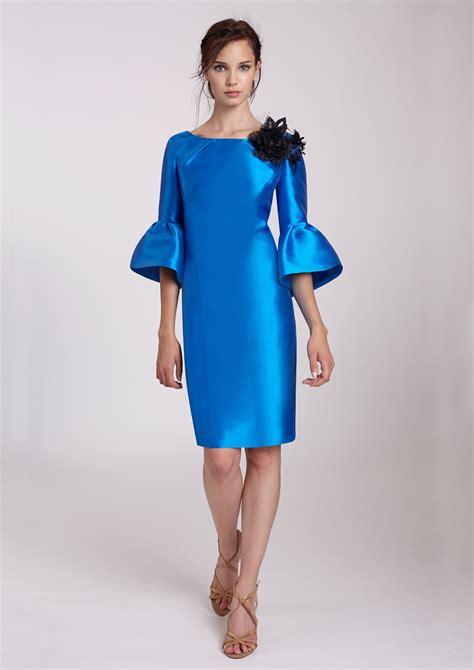 vestidos tres cuartos vestido azul de c 243 ctel