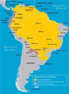 yellow fever map south america yellow fever yellow fever vaccination