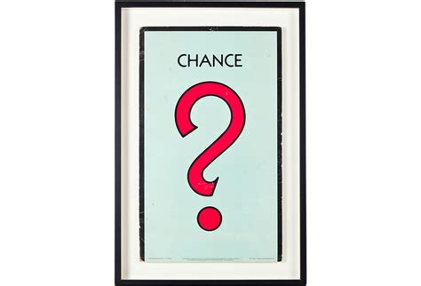 chance card template framed vintage monopoly chance card