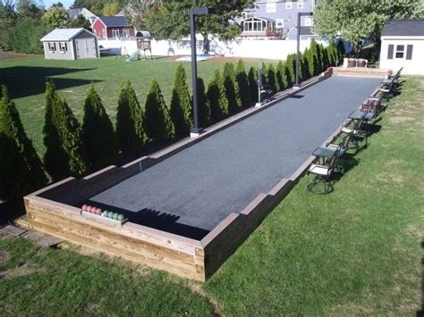 Backyard Bocce Court by Triyae Backyard Bocce Court Dimensions