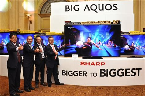 Tv Big Aquos sharp goes from bigger to with 90 inch led tv