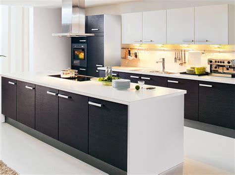 Agréable Cuisine Blanche Et Noir #7: Une-cuisine-noire-et-blanche-ouverte-sur-le-salon.jpg