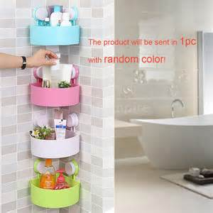 Plastic Bathroom Storage Wall Mounted Plastic Corner Shelf Storage Caddy Shower Holder Organizer Rack New Ebay