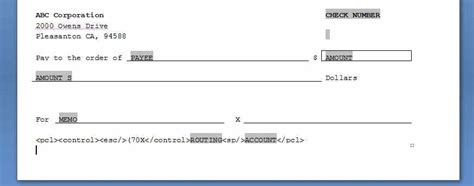 Creating Rtf Templates Microsoft Word Check Template