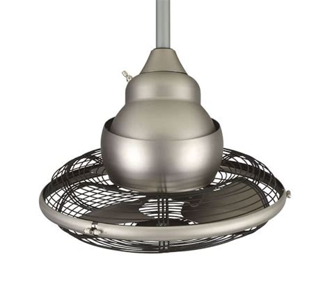 pottery barn ceiling fan extraordinaire indoor outdoor ceiling fan satin nickel