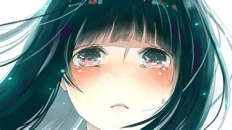 wallpaper anime girl cry girl crying wallpaper wallpapersafari