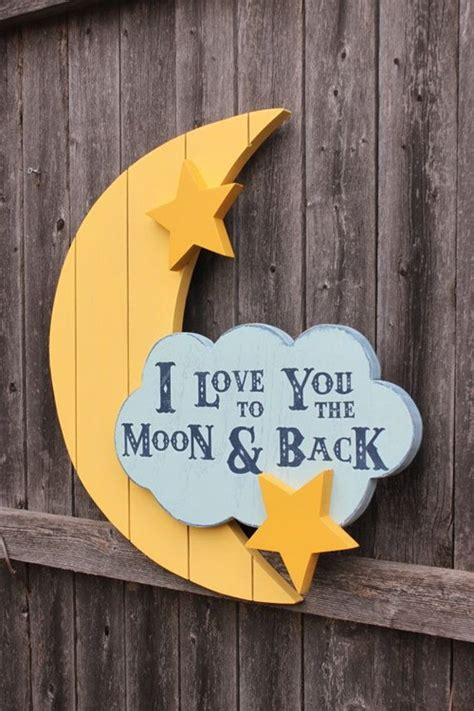 21 Cozy Signs For Your Home Messagenote I You To The Moon And Back Nursery Decor