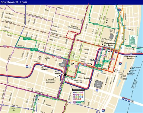 map of st louis system maps metro transit st louis