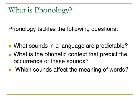 what does phonology mean ppt chapter7 phonemic analysis powerpoint presentation