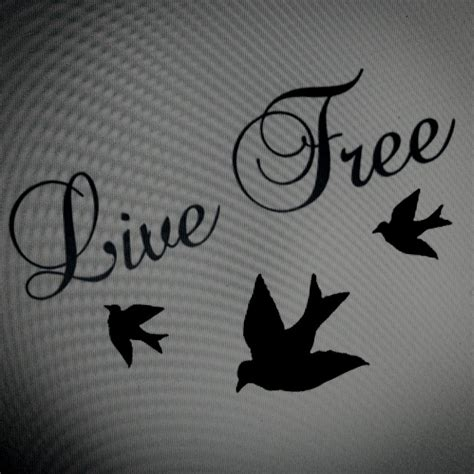 live free font tattoo ideas pinterest live free