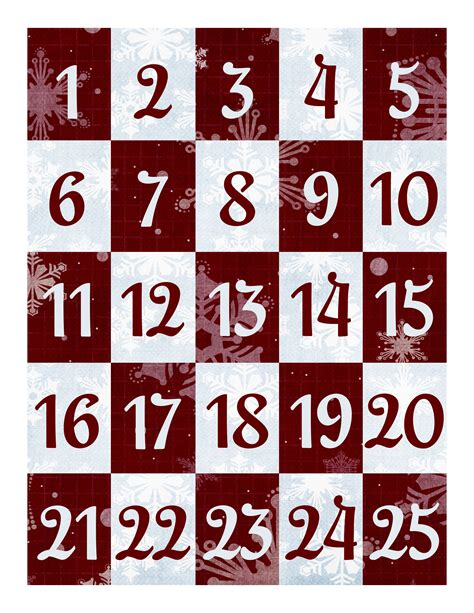 free printable holiday numbers free christmas countdown printable i can teach my child