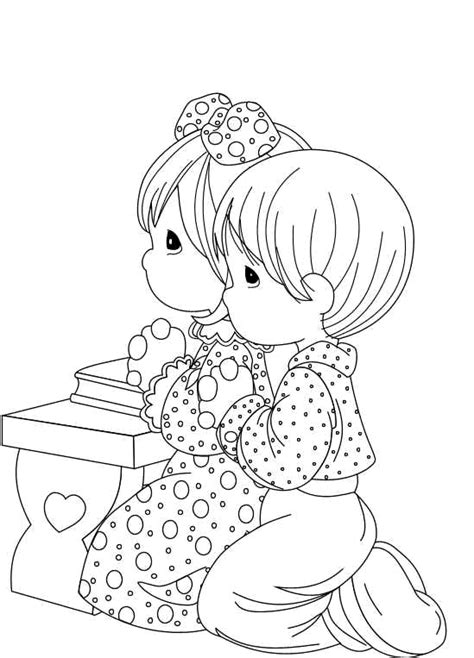 coloring pages precious moments jesus loves me colorea tus dibujos preciosos momentos ni 241 os rezando