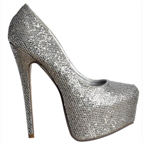Hight Hells Silver silver sparkly high heels