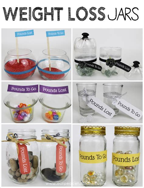 weight loss jars those pounds come with weight loss tracker jars