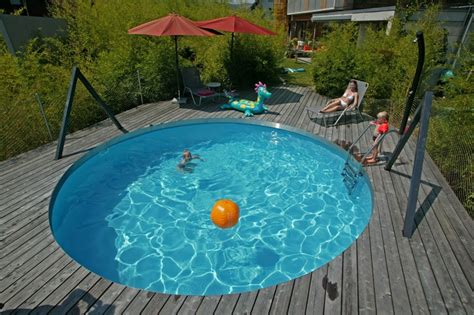 runder pool poolinsel baumgartner poolundzubehoer pools