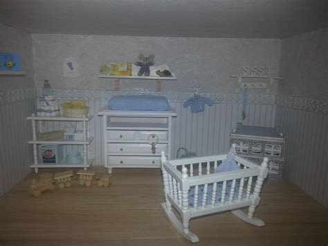 dollhouse nursery miniature roombox dollhouse baby nursery room 1 12 my