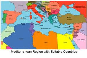 Mediterranean Sea On World Map by Mediterranean Sea Map Outline Political Map