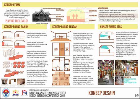 layout poster arsitektur menpora award indonesia youth design interior