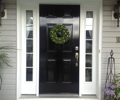 22 Pictures Of Homes With Black Front Doors Front Exterior Doors For Homes