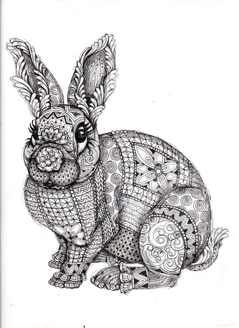 coloring pages for adults bunny coloring for adults kleuren voor volwassenen adult