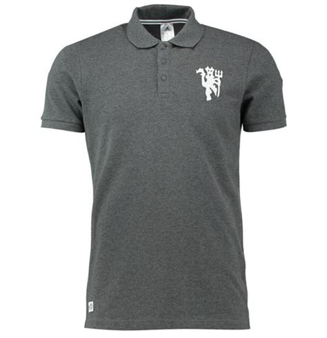 Polo Shirt Manchester United 1617 Mu Navy 2016 2017 utd adidas polo shirt grey for only 163 17 97 at merchandisingplaza uk