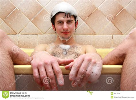 the bathtub guy guy at the bath royalty free stock photography image 8613427