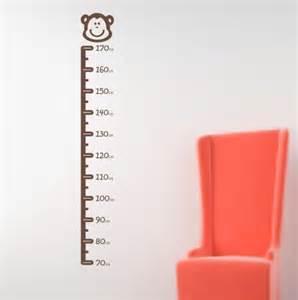 Height Chart Wall Stickers Stick On Height Chart Wall Sticker Monkey Design H542k