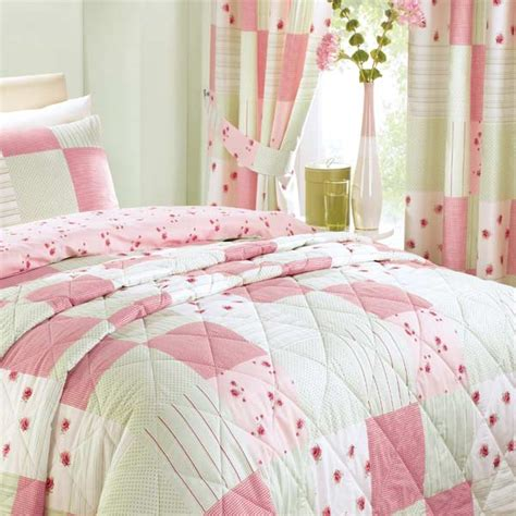 Pink Patchwork Curtains - patchwork pencil pleat curtains 66 x 72 inch ebay