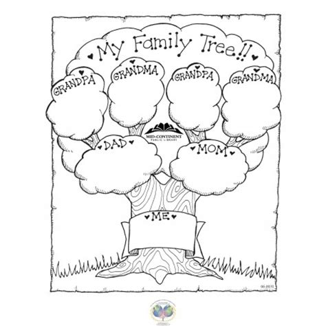 family tree coloring pages printable best coloring family