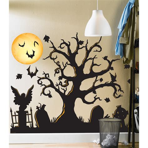 Giant Stickers For Walls halloween spooky cemetery giant wall decals buycostumes com