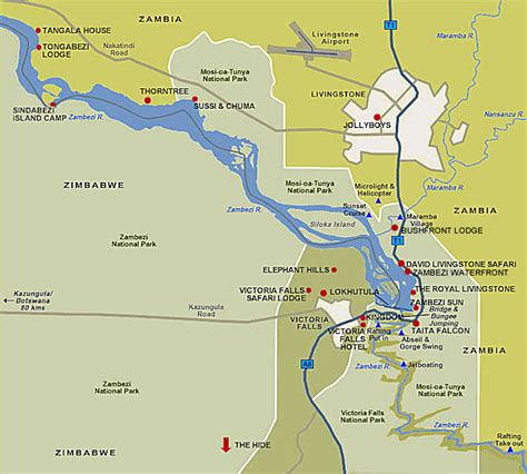 images  places pictures  info victoria falls map