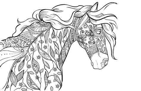 printable coloring pages for adults horses adult coloring book page coloring for grownups selah