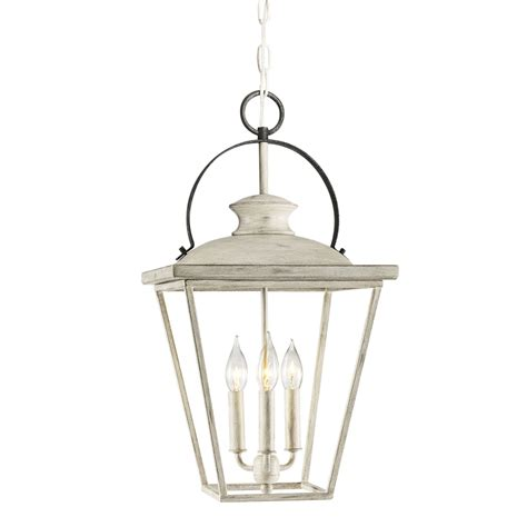 Cottage Pendant Lighting Shop Kichler Lighting Arena Cove 12 01 In Distressed Antique White And Rust Country Cottage