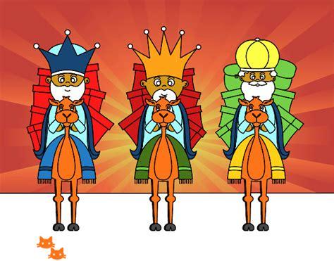 imagenes reyes magos con camellos dibujo de reyes magos en camello pintado por en dibujos