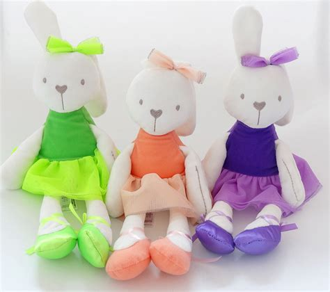 Bunny Plush Mamas Papas Doll Boneka Kelinci Pink Ballerina mamas papas rabbit soft plush bunny rabbit baby placate gifts for children s