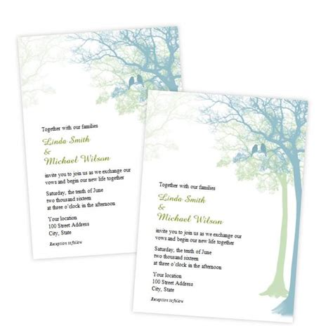 Ms Word Wedding Invitation Templates Free