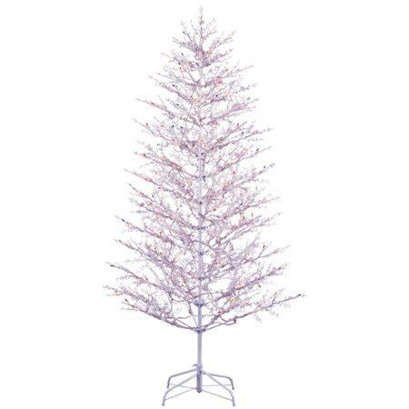 winterberry flocked christmas tree 9 ft unlit ge 5 ft indoor outdoor winterberry pre lit artificial tree with mul walmart