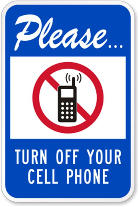 lynch sign 14 in x 10 in please turn off cell phones sign