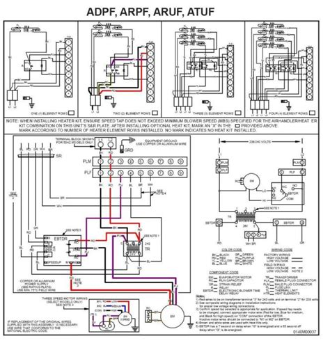 york electric heat wiring diagram electric heat