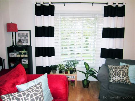 diy painted curtains diy painted window curtains homey oh my