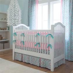 Baby Crib Skirts Aqua Haute Baby Crib Skirt Two Front Pleats Carousel Designs