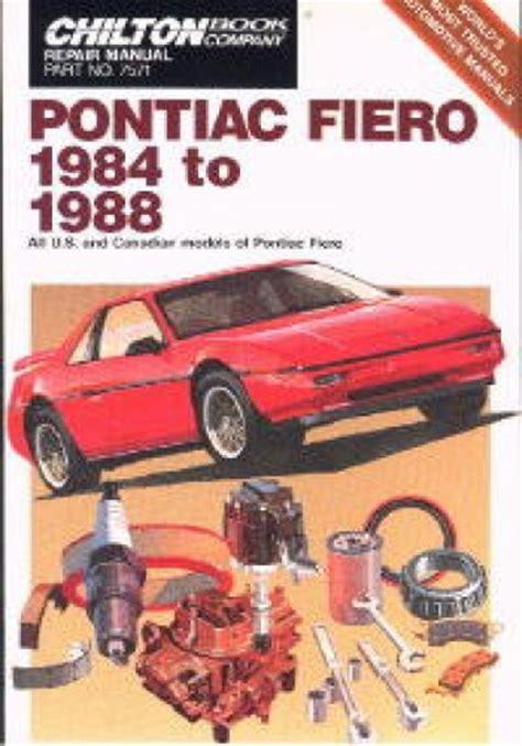 service manual how to change a 1988 pontiac bonneville rear wheel bearing vaultfan92 1988 chilton pontiac fiero 1984 1988 repair manual