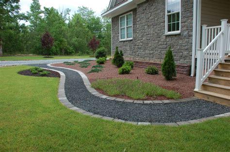 crushed granite with border yard design pinterest