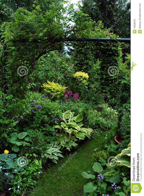 The Garden Place by Plants In The Shadow Garden Place Royalty Free Stock