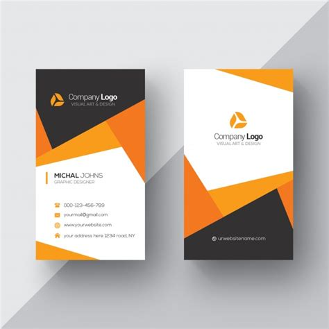 Business Card Template With And Logo by 20 Professional Business Card Design Templates For Free