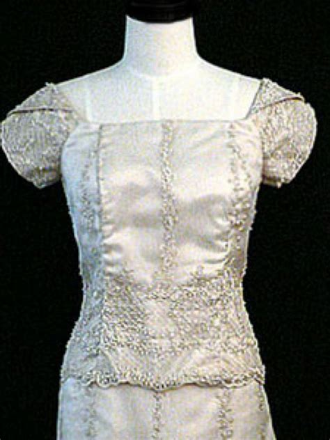 Histroy And Styles Of Wedding Dresses by History Of Filipiniana Dress Gossip Style